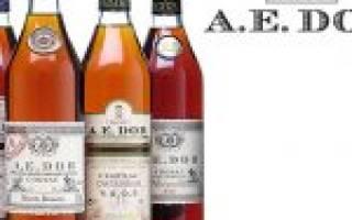 Коньяк A. E. Dor (А. Э. Дор): состав напитка, его особенности и характеристики
