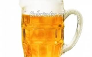 Калорийность пива: на 100 грамм в светлом и темном